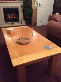 Solid hardwood coffee table good condition