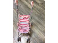 Nearly new mothercare toddler pink pushchair