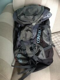 Vango Contour 50 +10S litre backpack, roomy, excellent condition, rain cover included, immaculate