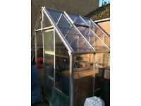 Aluminium greehouse, 7 x 6 foot plus 12 x 6 foot.