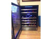 Hostess 46 bottle Wine Cabinet HW46MA. Two zones, 4 shelves Red 2 shelves White. Interior lighting.
