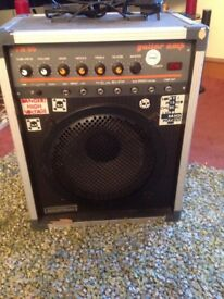 Guitar practice amp with reverb