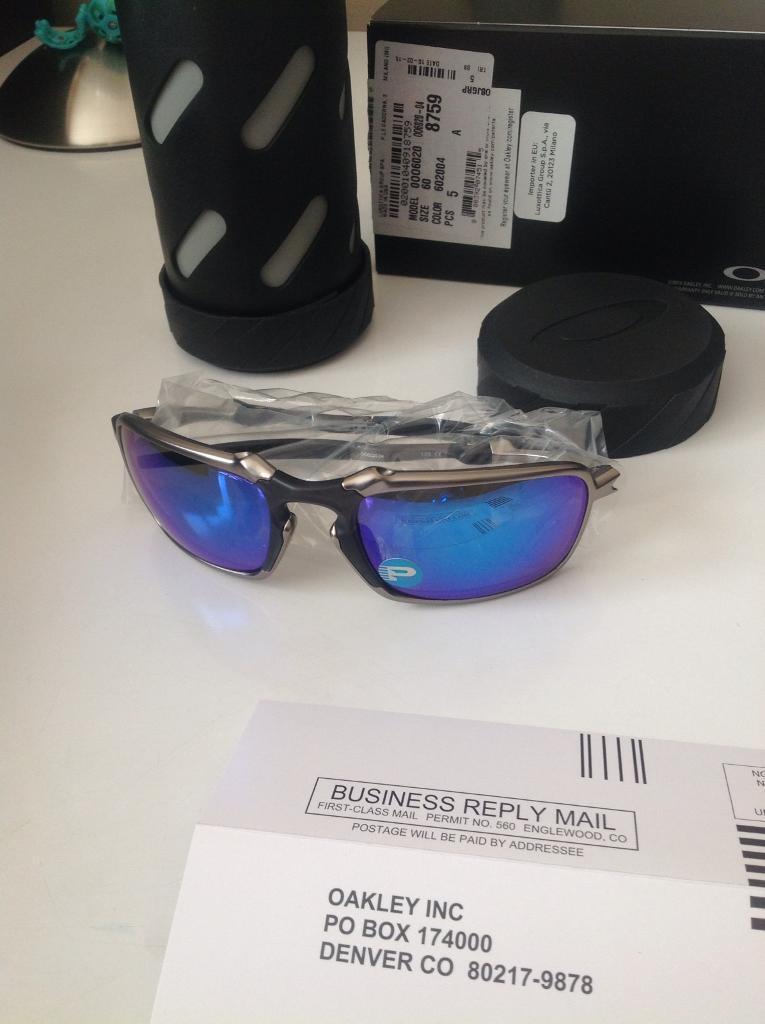 Oakley Badman sapphire plasma(never worn)