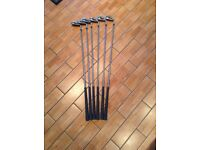 Taylor Made irons plus 3 wood plus recovery wood