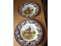 Spode woodland pheasant plates