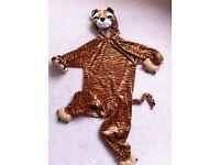 Tiger cat all in one kids fancy dress costume £5