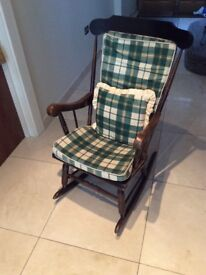 Rocking Chair with cushions in great condition
