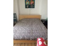IKEA malm large King size bed with luxury IKEA mattress - RRP £595