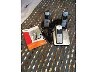 Siemens Gigaset C385 triple phone handsets