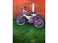 boys and girls mountain bikes spares or repairs x2 need cables ect £10 for both