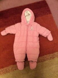 Pink Snow Suit 0-3month