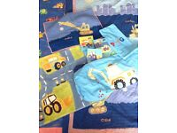 Children's bedding - 'Digger' Theme