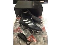 Adidas ACE 17+ Purecontorl FG-Core Black/White sock football boots.