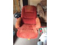 Morris furniture - reclining swivel chair