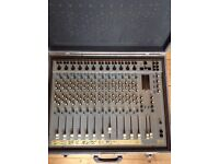 Sec 122 12 channel Mixer desk with custom made hard case