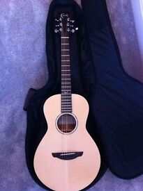 Faith Naked Mercury parlour acoustic guitar with Faith padded gigbag