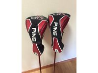Ping G15 fairway woods, 3 and 5, with headcovers. Regular flex shafts. Superb condition.