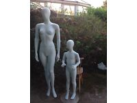 Mannequins- woman and child- life size