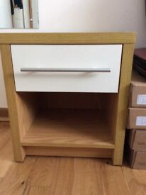 Beech and white bedroom units