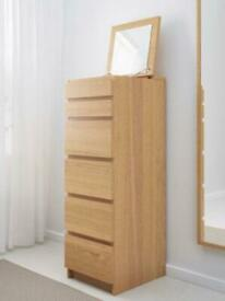 Malm tall chest of drawers with mirror (IKEA)