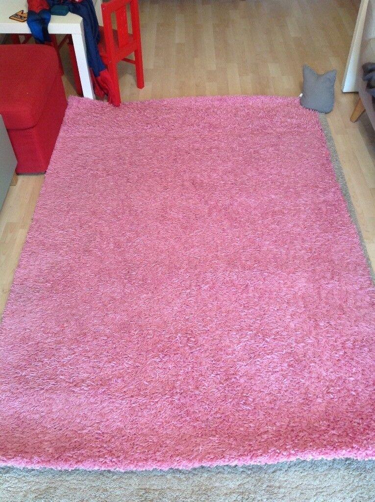 Pink Ikea Hampen Rug 133x195cm