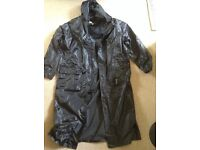 Gents black waterproof coat