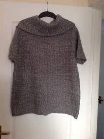 Grey and white jumper