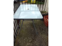 Glass Rectangle Patio Table