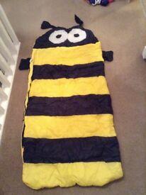 Child's Bee Sleeping Bag - Junior size