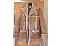 Sheepskin coat size 38. Good condition