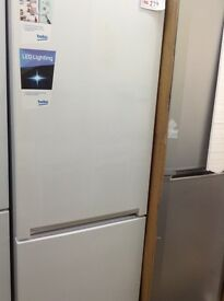 Beko white 70/30 fridge freezer. New/graded. 12 month gtee