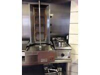 Donner machine with hot pot and cutter, archway dinner machine 4 burner all full working order
