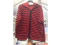 Striped black and red hoody size 20-22