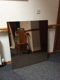 Mirror: 100cm x 114cm, unframed