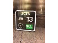Mini flip Calendar Clock by Karlsson suitable for people with dementia and / or a visual impairment