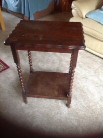 Side/occasional table with barley twist legs