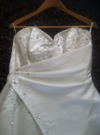 Maggie Sottero Wedding Dress, size 18 white