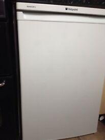 Hotpoint white under work surface fridge excellent condition