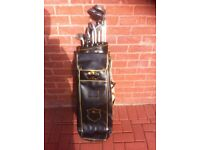 Golf Clubs with leather bag
