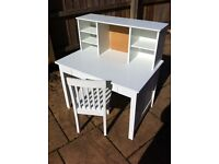 Great Little Trading Company White Desk and Chair
