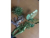 Lots of green decorations exc condition