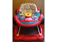 Mothercare Car Baby Walker and push along. Nearly new