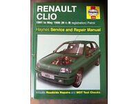 Haynes Manual For Renault Clio 91-98