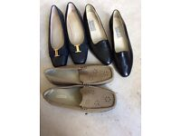 Ladies size 4 low heel x 2 and size 4 flat loafers new