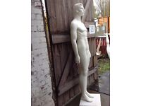 Abstract Male Mannequin EX Hire Good Condition Straight Stood