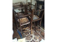 ERCOL DROP LEAF DINING TABLE AND 4 ChAIRS.
