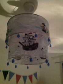 Children's Blue Pirate LampShade