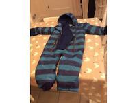 Joules waterproof suit age 2-3