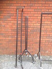 5 x heavy duty clothes rails