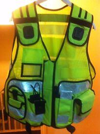 Brand New Hi-Viz Jacket TACTICAL SECURITY DUTY PATROL VEST YELLOW SIA INDUSTRY DOOR SUPERVISOR STAFF